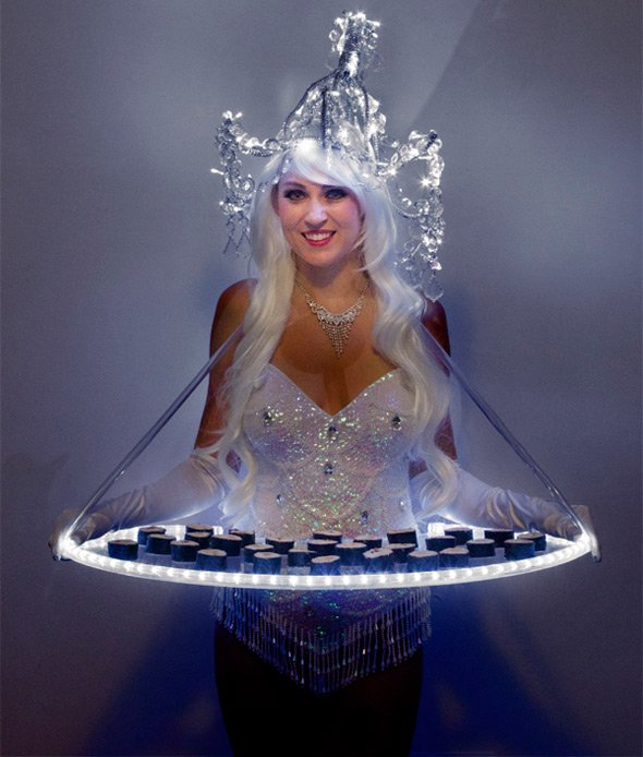 Light Bites: Canape Serving Illuminated Entertainers