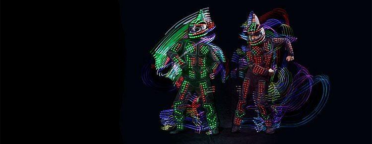shark-fin-robot-led-dancers Image